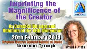 Imprinting the Magnificence of the Creator by Celestial Unicorn and Dolphins of the 14th Dimension