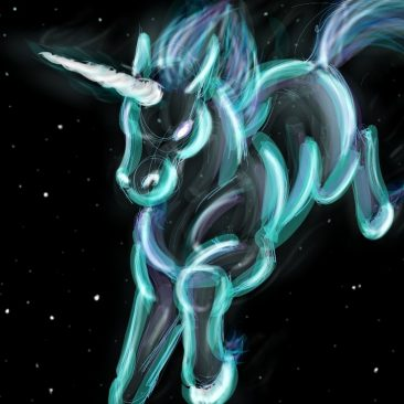 Celestial Unicorns and Dolphins