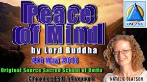 Peace of mind by Lord Buddha Through Natalie Glasson